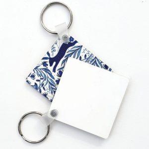 Blank Square Glossy Keyrings
