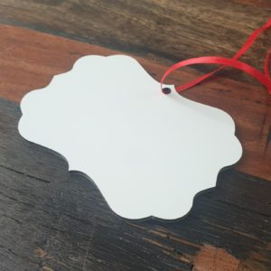 blank benelux christmas hanging ornament for sublimation