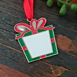 Present christmas tree ornament sublimation